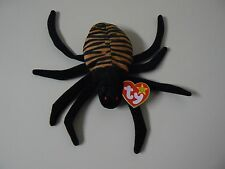 Ty Beanie Baby SPINNER Plush Brown and Black Spider with Red Eyes Original