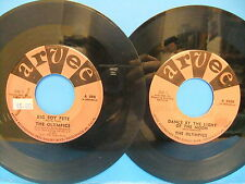 The Olympics 45 LOT Big Boy Pete Arvee 595 & Dance By The Light Of The Moon 5020