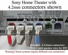 6c 4.2mm speaker connectors made for Select Sony DAV BDV HBD HCD home theater