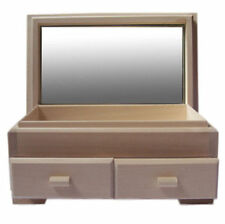 2 Drawer pine wood jewellery box & mirror DD101 dressing table wooden quality