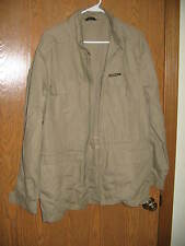 Members Only Jacket Europe Craft 40Thin Beige Polyester Cotton Rare FREE SHIP