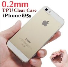 Super Slim 0.2mm Transparent Clear Soft Case TPU Rubber Case FOR iPhone 5 5s