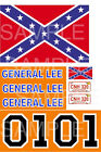 General Lee Decals 1:24 scale or 1:32 scale