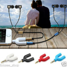 3.5mm Headset Adapter Kit U Shape Y Splitter for Audio Headphone and MIC
