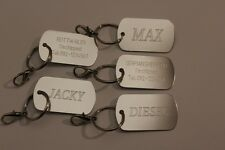 DOG ID, US ARMY STYLE ENGRAVED, TAG PERSONALIZED, DOGS, CHARM TAGS CUSTOM BADGE