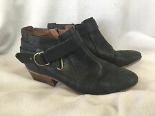 Clarks Black Leather Spye Bell Ankle Boots Women's 8