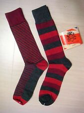ENGLISH LAUNDRY by CHISTOPHER WICKS  NEW STYLE  2 PAIRS SOCKS Ret$20 Sz 10-13 b