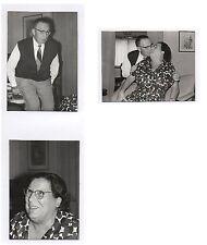 Lot 3 PHOTOS Snapshot S'embrasser Baiser Bisous Kiss Kisses Couple 1965 Amour