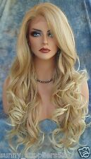 Fashion Party Wig Sexy Women's Long Wavy Blonde Cosplay Full Wig