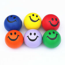 6.3cm Squeeze Ball Smile Face Hand Wrist Exercise Stress Relief Venting Ball