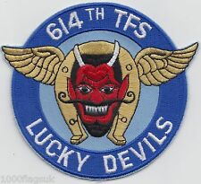 614th TFS Tactical Fighter Squadron Devils Air Force Embroidered Badge Patch