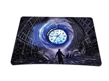 Time Hole Anti-Slip Small Rubber Mouse Pad Mice Pad Mat For Optical Laser Mouse