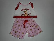 """Build A Bear Workshop """"Puppy Love"""" Outfit Pajamas BAB"""