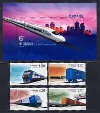 China PRC 2006-30 Eisenbahn Trains Railways  3816-19 + Block 132 ** MNH