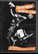 DVD ALL ZONES--CONCERT--TOKIO HOTEL--SCHREI - LIVE