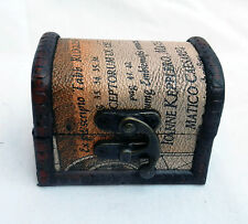 Small Map Design Wooden Pirate Chest / Cabin Trunk Trinket Box - NEW