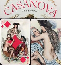 1960 Cartier Paris High Grade Casanova Playing Cards 53+2 Jokers Lovers Deck