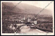 BRESCIA DARFO BOARIO TERME 46 CASINO BOARIO MONTECCHIO - PONTE Cartolina v. 1930