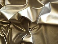 GOLD DRESS CLOTHING FAUX LEATHER LEATHERETTE LYCRA STRETCH FABRIC PVC MATERIAL