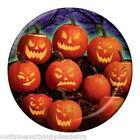 8 x Goulish Grins Pumpkin Party Plates...Halloween Table