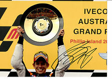 CASEY STONER HAND SIGNED 2007 TROPHY PHOTOGRAPH UNFRAMED + PHOTO PROOF C.O.A