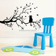 Cat Tree Wall Stickers Room Home Decor Decal Removable Mural Cartoon Vinyl DIY