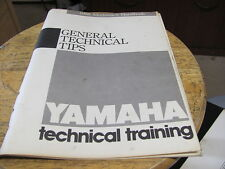 1988 Yamaha General Technical Training Tips Mechanics Handbook