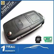 433MHZ 2 Buttons Remote Flip Key Fob For VW Golf Bora Seat Transporter T5 MK4