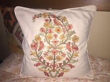 POTTERY BARN  Crewel Pillow Cover ONLY 20x20   BEAUTIFUL!
