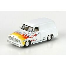 HO 1/87 Athearn # 26494 1955 Ford F-100 Custom Panel Truck - White w/ Flames