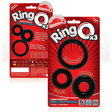 Screaming O Ringo 3 Pack Black Penis Ring / C-ring Super Stretchy & Flexible