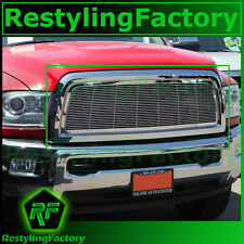 13-15 RAM Trucks 2500+3500+HD Front Hood Chrome Billet Grille+Replacement+Shell