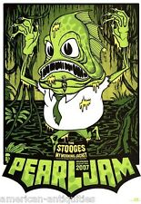 Pearl Jam The Stooges My Morning Jacket mini Art Concert Poster Lollapalooza
