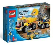 Lego City Town Construction 4201 Loader and Dump Truck Miners Minifigure NISB
