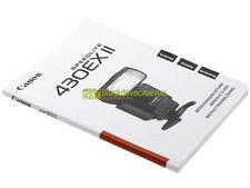 Manuale originale cartaceo per flash Canon Speedlite 430 EX II. ITALIANO. 430EX