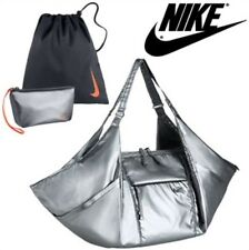 NIKE VICTORY METALLIC Gym Tote Shoulder Bag Metallic Cool Grey Medium 25 Liters