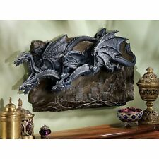 Dragon Wing Statue Wall Hanging Art Sculpture Medieval Gothic Halloween Decor