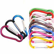 "10PCS Carabiner 2""/ 5cm Aluminum Alloy locking Clip Camping Snap Hook Keychain"