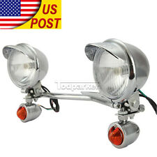 Passing Lamp Turn Signal Spot Light Bar For Honda Goldwing 1500 1800 Rebel 250