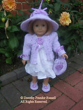 "Dolls Clothes KNIT PATTERN ""Fleur"" sized to fit 46cm  dolls/American Girl, etc."