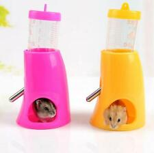 2 in 1 Hamster Water Bottle Holder Nest Small Animal Dispenser Toy Hut Base Pet