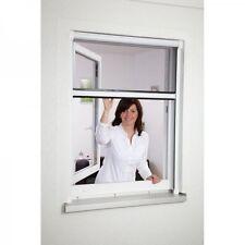 Moustiquaire fenêtre enroulable en aluminium Blanc recoupable L160 x H160 cm
