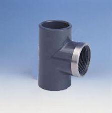 """PVC T-Stück 90°   110 - 4""""  verstärkt, Klebe-/Gewindemuffe"""