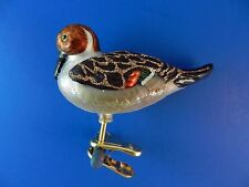 Pintail Duck Bird Old World Christmas Ornament Glass Blown Animal NWT 18096