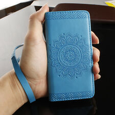 Card Holder Leather Flip Wallet Case Cover Stand Floral For Samsung iphone 5 6 7