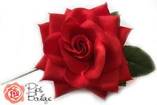 Nuevo Grande Rojo Rosa Flamenco Español Flor de Cabello 25cm