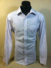 BANANA REPUBLIC mens L/S Pink Striped Button Down Dress Shirt size 15-15 1/2 EUC