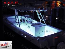 White LED Boat Lights Kit Waterproof Pod Bright LED Strips Marine Interior