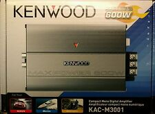 Kenwood KAC-M3001 600W Class D Mono Compact Amp for Marine and Motorcycle
