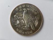25 Rupien Nepal 1974  Silber ST Glanzfasan